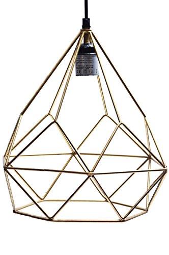 MAADES Design Vintage Pendelleuchte Lampe | Hängeleuchte Tucson Goldfarbig Ø = 29cm, geeignet für E27 Leuchtmittel | Diese Deckenlampe ist für Ihre Küche, Wohnzimmer oder über den Esstisch Ausgefallene Esstisch