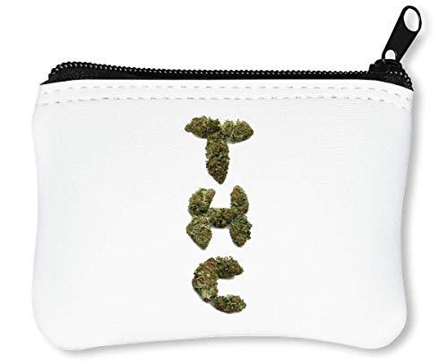 THC Buds Cannabis Marijuana Ganja Leaf 420 Reißverschluss-Geldbörse Brieftasche Geldbörse