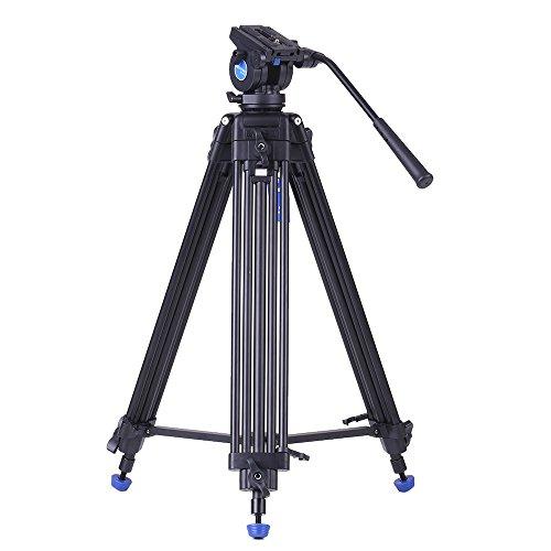 Andoer Benro KH25N Profesional Trípode Aleación de Aluminio de Video + Ballhead Hidráulica MAX Carga 5 kg para Canon Nikon Sony Videocámara Cámara