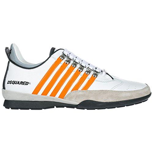 Dsquared2 Herrenschuhe Herren Leder Schuhe Sneakers 251 Weiß EU 41 SNM0131 01500450 M551