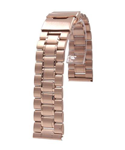 20mm Acier inoxydable de bande de montre Bracelet + outil + 2 Pins Pour Samsung Gear S2 Classic SM-R7320 Smartwatch (or rose - B)