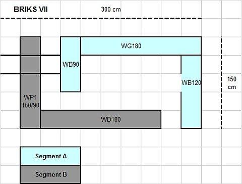 Modulare Anbauwand Briks VII Hochglanz 5-teilig mit großer Farbauswahl - 5