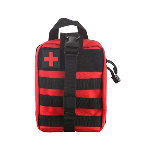 fghfhfgjdf Outdoor First Aid Bag Tactical Medical Case Multifunctional Waist Pack Camping Climbing Emergency Bag Survival Kit(Red)