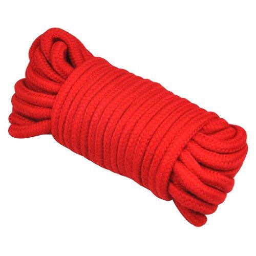 Preisvergleich Produktbild TOOGOO(R) 10M 33 FT SILK Bondage Seil weich bis bdsm Tie Up Spass Beruehren - red