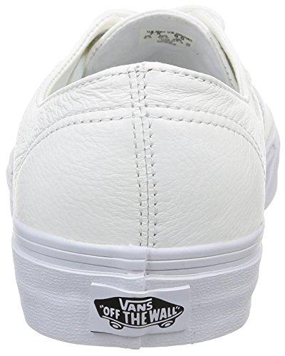 Vans U Authentic Decon Leather, Sneaker basse Unisex - Adulto Bianco (Black/Black)