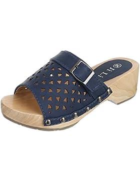 Kinder Schuhe, JL-160-1, SANDALEN CLOGS PANTOLETTEN MIT DEKO
