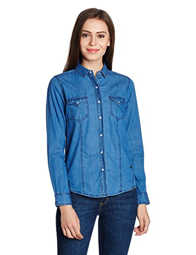 Pepe-Jeans-Womens-Button-Down-Shirt-PIL0001629IndigoX-Large