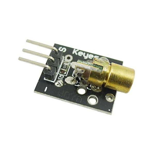 41fWitePULL. SS600  - Aihasd KY-008 650nm 5V módulo de Sensor láser para Arduino con demo código