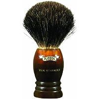 Plissons 955611 - Brocha de afeitar (pelo de tejón gris, tamaño 10, montura alta de concha)