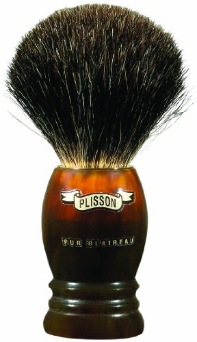 Plissons - Blaireau - Pur Noir - Facon Ecaille Monture Haute - Taille 10