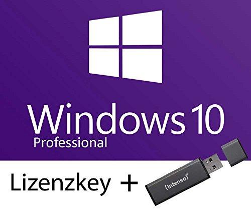 Microsoft Windows 10 Professional | zum Download mit 8GB bootable USB Stick mit Installationsdateien für 32-bit / 64-bit | Betriebssystem | für Unternehmen oder zur privaten Nutzung