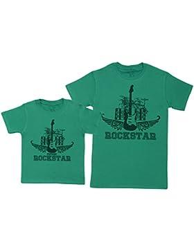 Future Rockstar Set - regalo para padres e hijos - camiseta de niño y camiseta de hombre