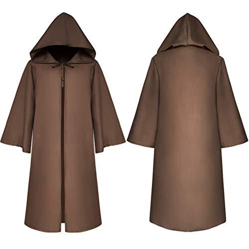 Für Erwachsene Mittelalterlichen Kostüm - JH&MM Mittelalterliches Uniform-Wollmantel-Mantel-Maskeradekostüm des Halloween-Kostüms