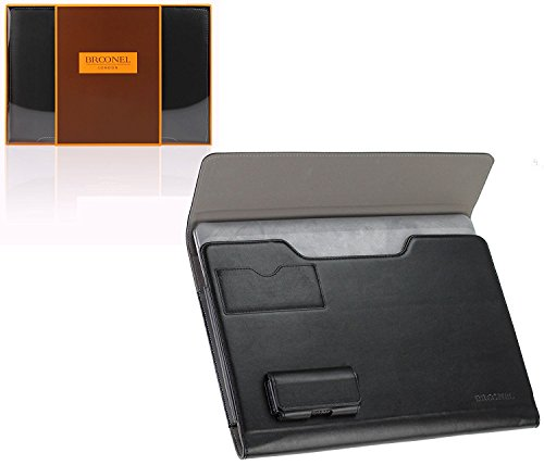 Broonel London – Prestige – schwarzes premium Case / Cover Trage Tasche / Folio speziell für das Hp Envy X2 Windows 8 Tablet
