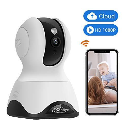 Openuye WLAN IP-Kamera, 1080P FHD-Überwachungskamera für den Innenbereich mit Zweiwege-Audio, Nachtsicht, App-Fernbedienung, Bewegungserkennung mit Alarm am Telefon, Baby- und Haustiermonitor