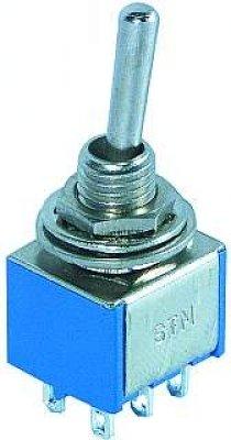 Miniatur-Kippschalter McVoice, 250V/3A, 6-polig, gefede