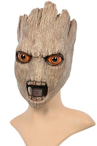 Tree Maske Cosplay Erwachsene Deluxe Vollkopf Latex Latex Helm Fancy Dress Kostüm Merchandise für Halloween (Lord Helm Star Kostüm)
