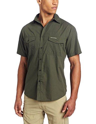 Craghoppers Kiwi Herren Kurzarm Hemd - Cedar, Medium (Poly-hemd)
