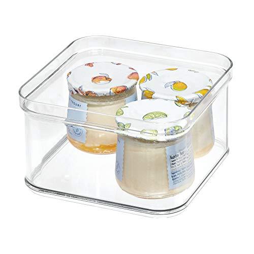 iDesign Kühlschrankbox, Aufbewahrungsbehälter aus BPA-freiem Kunststoff, Aufbewahrungssystem für Küche oder Kühlschrank, (16,1 x 16,1 x 9,6 cm), durchsichtig