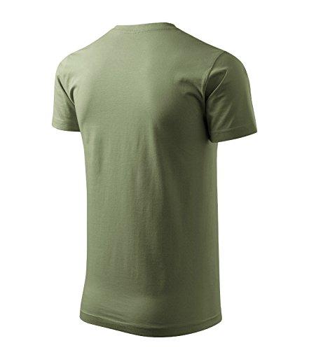 T-Shirt Basic unisex für Damen + Herren 100% Baumwolle Khaki