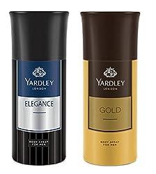 Yardley London Deodorant For Men Elegance And Gold Combo Pack 2 (150 ml)
