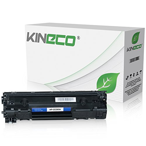 Kineco Toner kompatibel zu HP CE285A CE285X für HP Laserjet Pro P1102w ePrint, Laserjet Pro P1100, Laserjet Pro M1132 All-in-One - 85A - Schwarz 2.100 Seiten -