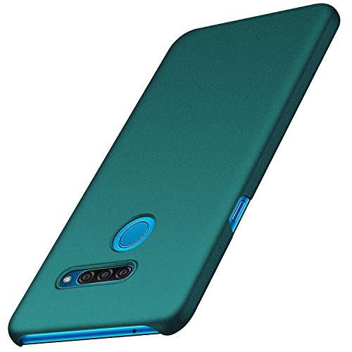 anccer Kompatibel mit LG Q60 Hülle, [Serie Matte] Elastische Schockabsorption & Ultra Thin Design für LG Q60 (Kies Grün)