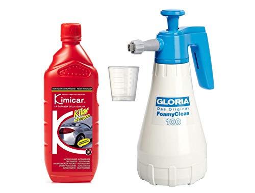 Preisvergleich Produktbild Auto-Reinigungsset Gloria Foamy Clean 100 + Kimicar Kilav Autoshampo Snow Foam