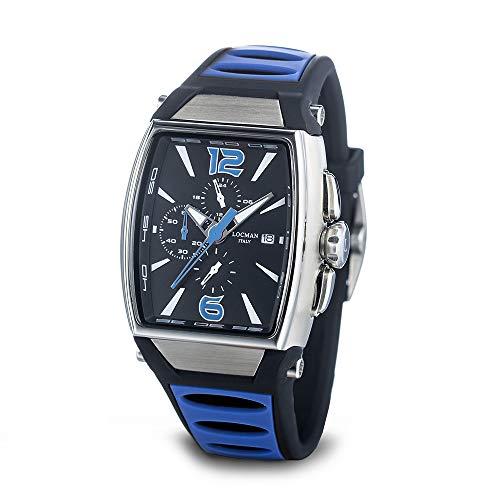 Locman orologio uomo cronografo TREMILA cinturino blu