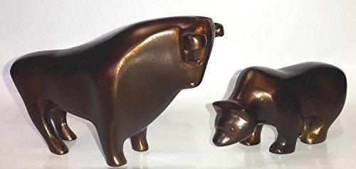 Bronze Bar (Antik Bulle & Bär bronze-farbiges Aluminium Design Bulle und Bär - Bulle + Bär)