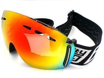 2013 DIRTY DOG Frameless VOID medium unisex Ski Snow Goggles FIRE Fusion MIRROR 54102