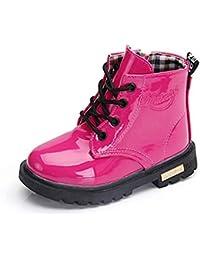 Stivali Bambini Stivali Pelle Ragazze Stivaletti Invernali Ragazzi Stivali Neve Antiscivolo Traspirante Boots