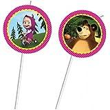 Masha y el oso - Pajitas para fiesta temática infantil (6unidades)