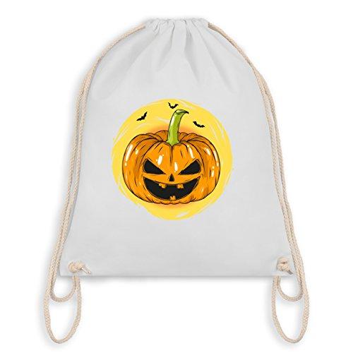 n Kürbis Gesicht - Unisize - Weiß - WM110 - Turnbeutel I Gym Bag (Gesichter Für Halloween-kürbis)