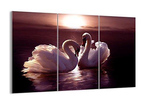 Quadro su vetro - tre 3 tele - larghezza: 165cm, altezza: 110cm - numero dell'immagine 0223 - pronto da appendere - elementi multipli - Arte digitale - Moderno - Quadro in vetro - GCE165x110-0223