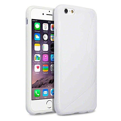 "Slim S-Line Coque de protection en silicone TPU 14cm (5,5"") pour Apple iPhone 6Plus Coque vollf Multicolore Rouge Weiß"