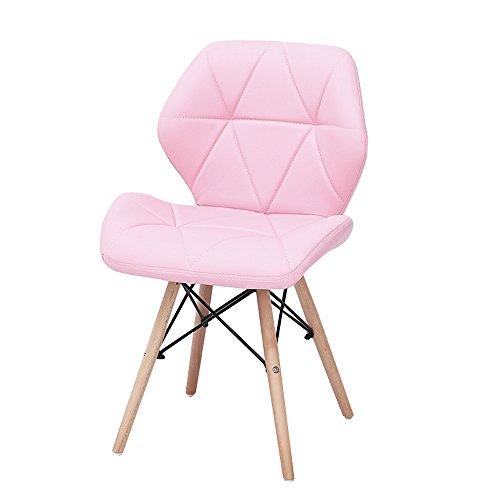Yuan JIAN Faules Sofa, Einfache Moderne Computer-Stühle, Bürostühle aus Massivem Holz, Essecke A++ (Farbe : Pink)