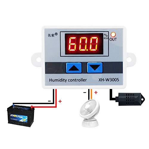 KKmoon XH-W3005 Multifunktionale Praktische Hohe Präzision Digitale Luftfeuchtigkeit Controller Hygrometer Schalter 0~99{cd2fd104f16a44783f0c7656ddf14db0688c1a59d8d44b74d3034e4163119f15} RH Hygrostat mit Sensor