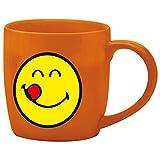 zak! Espresso-Tasse Smiley-Lecker 75ml in orange, Porzellan, 5 x 5.4 x 6 cm