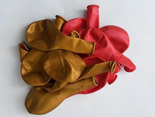 -Luft-Ballons-glänzend-metall-Feier-Deco-Geburtstag-Fete-Helium-geeignet EU Ware vom Sachsen Versand (Schwarz Und Gold-abi-feier)