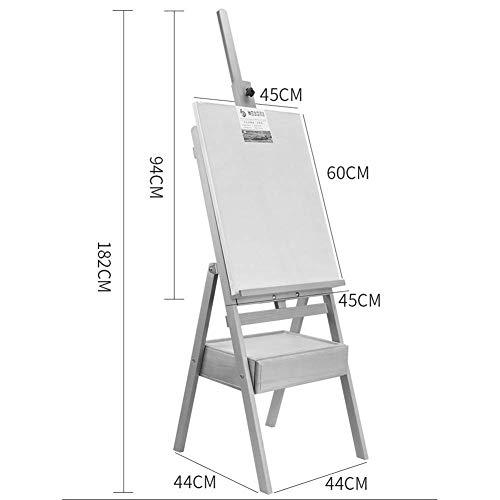 SLR Outdoor-Ulmen-Sketch-Staffelei, Tragbare Wandhalterung,Weiß