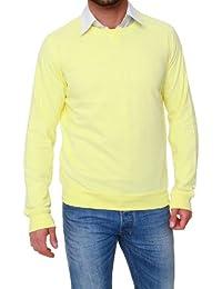 GANT Herren Pullover Sweatshirt SUNBLEACHED C-NECK, Farbe: Hellgelb
