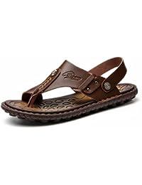 c125ef56079 Newbestyle Homme Chaussure été Sandales Cuir Souple Sandales de Plage Tongs