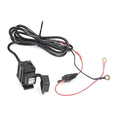 Dual USB Motorrad Ladegerät, Dual USB Motorrad Ladegerät, Elektro Motorrad Wasserdicht Dual USB Port Kfz Ladegerät Netzteil Ladebuchse Adapter Universal für Motorrad Fahrzeug