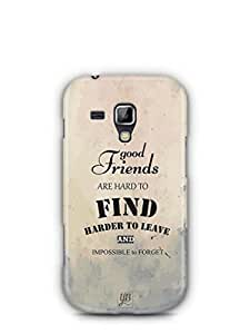 YuBingo Good Friends are Hard to Find Mobile Case Back Cover for Samsung Galaxy S Duos