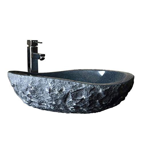 Stone Art Waschbecken Bad Arbeitsplatte Waschbecken Oval Marmor Bad Waschbecken Waschplätze (Farbe : A)