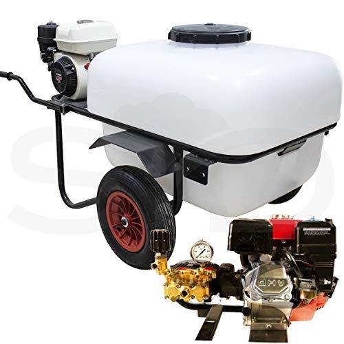 Carretilla sulfatadora 200L. Motor 4T 40Bar 30L. Alta presión, bomba de pistón cerámico.
