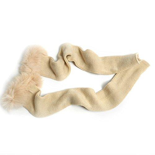 Autunno e inverno pišŽ lunga ladies' maglia guanti di lana caldi/ coniglio capelli super lunghi guanti mezze dita-A Unica