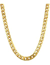 Charms Handmade Gold Plated Chain for Boys & Men (Golden)(CH-028EF)