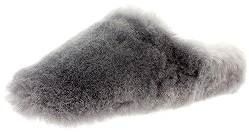 Damen Hausschuhe Pantoffeln LAMB 35274 aus Lammfell Grey